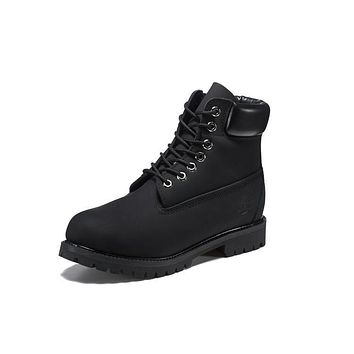 Timberland 10061 Leather Lace-Up Boot Men Women Shoes Black