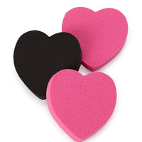 Heart Make-Up Sponges