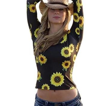 Oh Sweet Nellie Sunflower Top