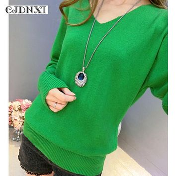 Women Fashion Knit Cashmere Oversized Sweaters Female long Sleeve V-neck Pullover Pull Femme Autumn Winter Jumpers Plus Size 4XL