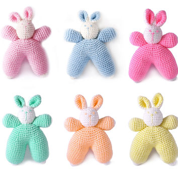 Bunnies Handmade Amigurumi Stuffed Toy Knit Crochet Doll VAC