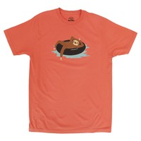 Sloth Tubing Summer citrus graphic tee by Altru Apparel