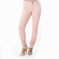 Classic Skinny Pants In Blush Pink