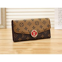 LV popular casual lady handbag fashion color printed flip purse #1