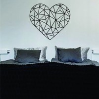 Geometric Heart Design Art Decal Sticker Wall Vinyl Love Beautiful