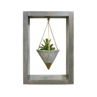 Succulent Planter, Hanging Planter, Wall Planter, Mini Planter, Air Planter, Concrete Planter, Gold Planter, Modern Planter, Shadow Box