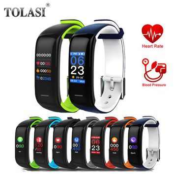 Most Accurate Heart Rate Monitor Blood Pressure Fitness Clock Colorful Touch Screen PK fitbits R5