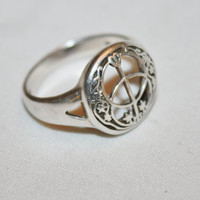Sterling Ring Modernist Moon Stars  Vintage 1960s  Jewelry
