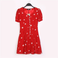 Summer Strong Character Print Slim One Piece Dress [4917857796]