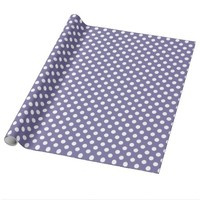 Purple With White Polka-dot Wrapping Paper