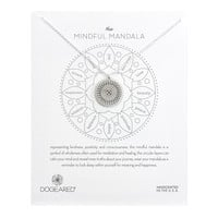 The Mindful Mandala Necklace, Sterling Silver| Dogeared