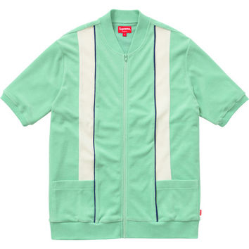 Supreme: Zip Front Terry Cardigan - Mint