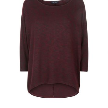 Burgundy Batwing Sleeve Fine Knit Top | New Look