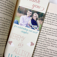 Wedding Favor, Thank You Bookmarks. PDF or Printed.
