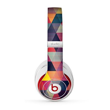 The Triangular Abstract Vibrant Colored Pattern Skin for the Beats by Dre Studio (2013+ Version) Headphones