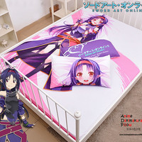 New Konno Yuuki - Sword Art Online Japanese Anime Bed Blanket or Duvet Cover with Pillow Covers Blanket 16