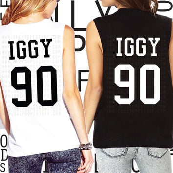 Iggy Azalea Team Shirt Jersey Muscle Tee Black Widow Azaleans