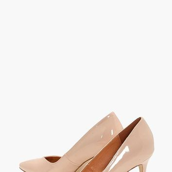 Ava Pointed Toe V Cut Low Heel | Boohoo