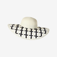 EUGENIA KIM COLORBLOCK LATTICE WEAVE SUN HAT
