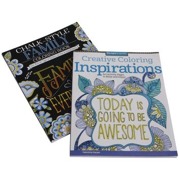 Inspirational Coloring Books, Set of 2