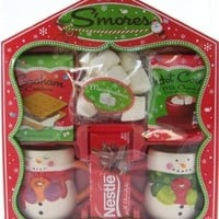 Cocoa, Mugs & S'more Kit Gift Set