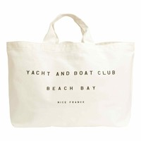 Tote bag with a text print
