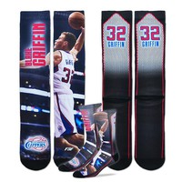 For Bare Feet Los Angeles Clippers Blake Griffin Sublimated Socks - Men (Clp Team)