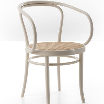 Gebruder Thonet Wiener Stuhl Bentwood Armchair with Cane Seat by GTV