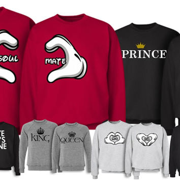 Matching Couple T-Shirts, Boyfriend Girlfriend Shirts, Couple Crewnecks