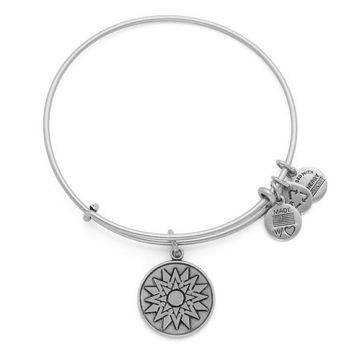 Alex and Ani New Beginnings Charm Bangle - Rafaelian Silver Finish