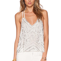 Parker Sequin Knox Tank in White