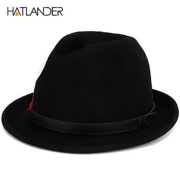 Wool black for women men Jazz caps Gambler church hats winter gentleman top hat