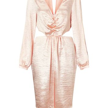 Rose Gold Split Sleeve Cut-Out Midi Dress - View All - Sale