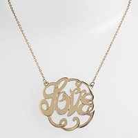 Stephan & Co. 'Love' Script Pendant Necklace (Juniors) (Online Only) | Nordstrom