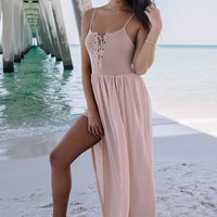 Raise Your Voice Cream Romper With Maxi Overlay
