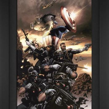 Captain America #9 - Limited Edition Artist Proof Giclee on Canvas by Steve Epting and Marvel Comics