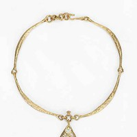 Teardrop Choker Necklace- Gold One