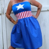 CAPTAIN AMERICA inspired costume Cosplay party Dress AVENGERS