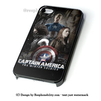 Captain America Poster iPhone 4 4S 5 5S 5C 6 6 Plus Case , iPod 4 5 Case , Samsung Galaxy S3 S4 S5 Note 3 Note 4 Case , and HTC One X M7 M8 Case