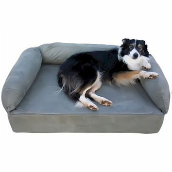 Snoozer Pet Dog Cat Puppy Indoor Comfortable Soft Quilted Luxury Memory Foam Sofa Sleeping Bed Large Dark Chocolate