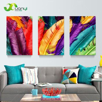 Feather Still Life Canvas Oil Painting Cuadros Home Decoration Wall Art Pictures Painting For Living Room Prints Unframed PR199