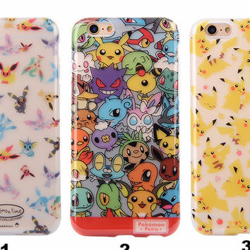 Pokemon Printed Rubber Case For Iphone