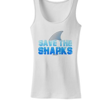 Save The Sharks - Fin Color Womens Tank Top by TooLoud