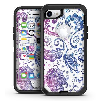 Purple Basic Watercolor Chevron Pattern - iPhone 7 or 7 Plus OtterBox Defender Case Skin Decal Kit