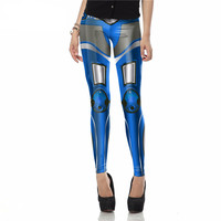 Robotic Print Leggings For Women