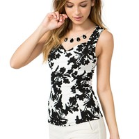 Fresh Floral Fit & Flare Top