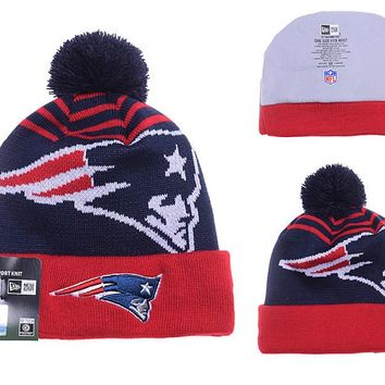 New England Patriots Logo Stitched Knit Beanies- (051)