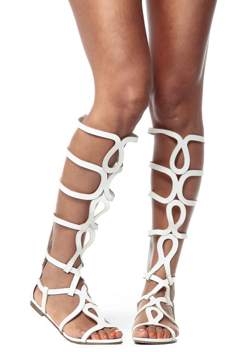71db3499004 White Egyptian Gladiator Sandals   from CICI HOT