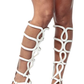 White Egyptian Gladiator Sandals @ Cicihot Sandals Shoes online store sale:Sandals,Thong Sandals,Women's Sandals,Dress Sandals,Summer Shoes,Spring Shoes,Wooden Sandal,Ladies Sandals,Girls Sandals,Evening Dress Shoes