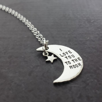 I Love You To The Moon Charm Necklace